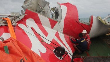 Wreckage from AirAsia flight 8501.