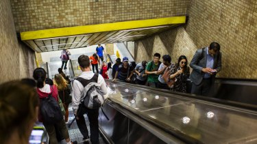 The platforms on the Eastern Suburbs line at Redfern station ranked second highest in terms of fire risk.