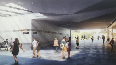 An artist's impression of the new Domain Station.