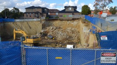 The excavation pit in Mount Waverley before it was refilled