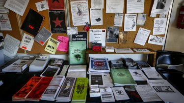 Literature at the Melbourne Anarchist Club in Northcote.
