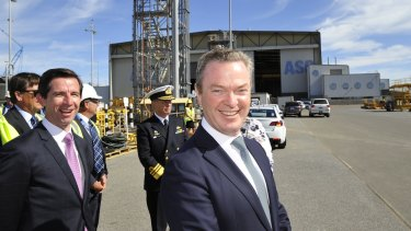 Industry Minister Christopher Pyne has banked his political fortunes on building submarines in South Australia with South Australian steel.
