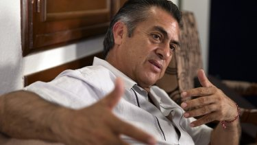 "Jaime ""El Bronco"" Rodriguez is standing as an independent candidate for governor of Nuevo Leon."
