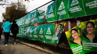 The Greens vote took over Northcote over five elections, but stopped short of Bell Street.