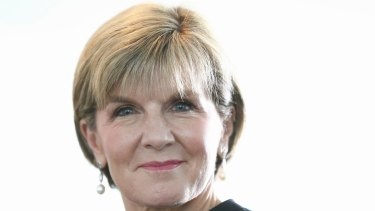 Minister for Foreign Affairs Julie Bishop.