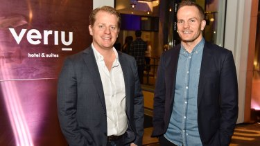 Rhys Williams (left) and Alex Thorpe, directors of Sydney's Veriu Hotels & Suites.