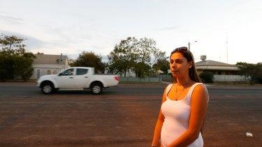 Alyssa Walford, 18, who works in Walgett, after schooling in Sydney.