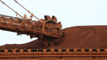 The Aussie dropped below US75¢ in the wake of iron ore's collapse. The spot price of iron ore shed 6.8 per cent to $US75.45 a tonne, taking its swoon to 20.5 per cent from February 21.