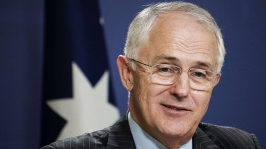 Malcolm Turnbull speaks to the media in Sydney on Tuesday.