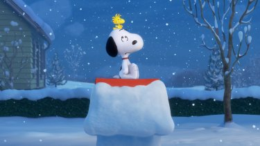 Snoopy and Woodstock in <i>Snoopy and Charlie Brown: The Peanuts Movie</i>.