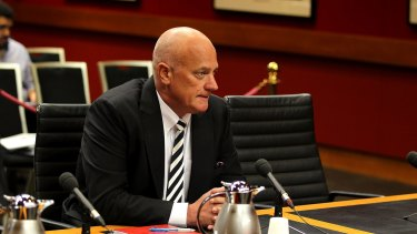 Stephen Sasse gives evidence at NSW Parliament House last week
