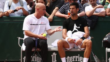 French Open 2017 Andre Agassi Inspired To Take Care Of Novak Djokovic