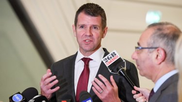 """Premier Mike Baird says the greyhound industry's end is """"locked in""""."""