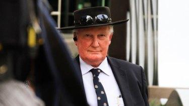 Former Brisbane Grammar School deputy headmaster David Coote leaves the Brisbane Magistrates Court.
