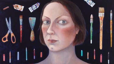 Madeleine Winch's 'Facing the canvas' (detail).