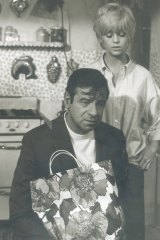 Goldie Hawn and Walter Matthau in a scene from <i>Cactus Flower</i>.