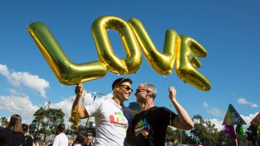 Advocates for marriage equality gather at Prince Alfred Park in Sydney last week.