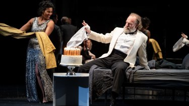 Zahra newman as Maggie and Hugo Weaving as Big Daddy.