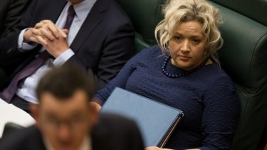 Health Minister Jill Hennessy in Parliament on Wednesday, when the Assisted Dying legislation was introduced.