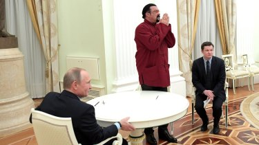 Steven Seagal, whose movies are popular in Russia, has defended his forays into that country over the years.