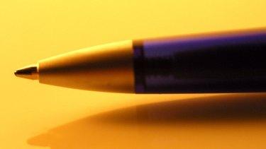A ballpoint pen.