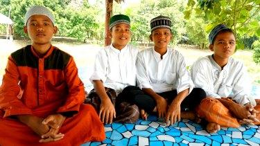 Students  Andika, Abdullah Azam Al-bara, Rizky Alfandi and Dimas Anggara.