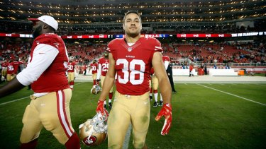 Against the odds: Jarryd Hayne was up against it from the start.