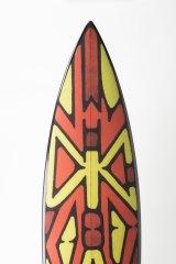Surfboard by Vernon Ah Kee. Yidindji, Kuku Yalandji, Waanji, Koko Berrin and Gugu Yimithirr peoples.