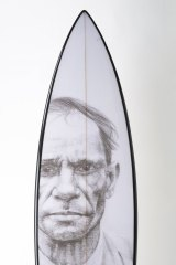 The other side of Vernon Ah Kee's surfboard.