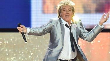 Irrepressible: singer Rod Stewart.