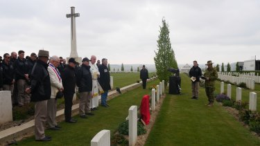 The rededication ceremony at Villers-Bretonneux, attended by French officials, was made possible by the work of the Fallen Diggers association.