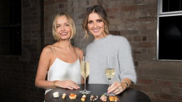 Lara Worthington and Kate Waterhouse at Tiffany's HardWare launch, Carriageworks, Eveleigh, earlier this month.