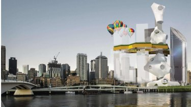 UQ Master of Architecture student Jeremy Field's Queen's Wharf design submission.
