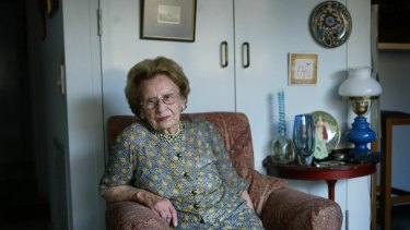 Mary Crean at home in Melbourne in 2003.