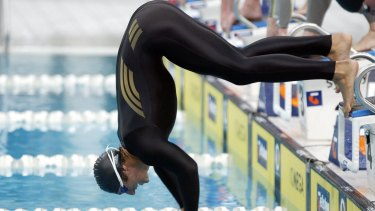Disaster: Ian Thorpe breaks during the 2004 Olympic trials and is subsequently disqualified.