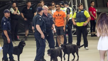 A large police and security presence at the Stereosonic Music Festival on December 5, 2015 in Melbourne.