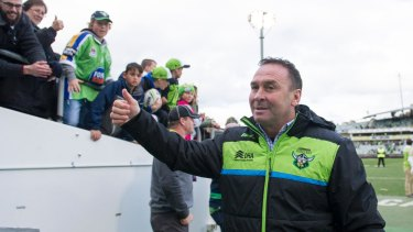 The inexperienced Raiders are using their coach Ricky Stuart's vast experience.