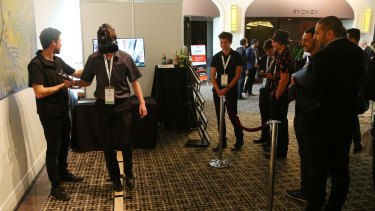A Virtual Reality activity at Creative Innovation 2016 Asia Pacific.