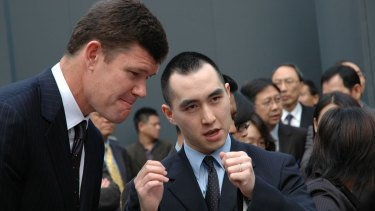 James Packer and Lawrence Ho in Macau in 2012.
