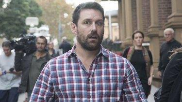 John O'Brien, husband of Bianka O'Brien, leaves the NSW Supreme Court.