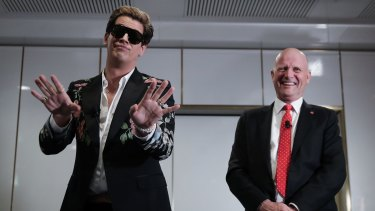 The alt-right commentator was hosted by Senator David Leyonhjelm for an event at  Parliament House in Canberra on Tuesday.