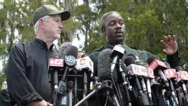 Orange County Sheriff Jerry Demings, right, with Nick Wiley, executive director of the Florida Fish and Wildlife Conservation Commission.