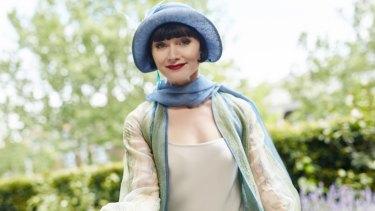 Essie Davis as Phryne Fisher in Miss Fisher's Murder Mysteries.