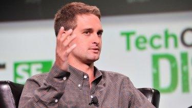 Snapchat founder Evan Spiegel.