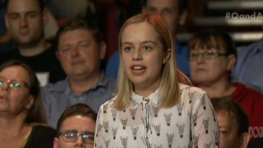 Audience member Holly James pressed Mr Birmingham on the fee increases.