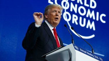 US President Donald Trump delivered a sales pitch to the global elite at the World Economic Forum in Davos, Switzerland.