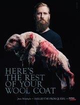 Australian Jona Weinhofen in PETA's controversial anti-wool campaign.
