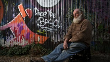 Michael Balderstone, President of Australian Hemp Party and Nimbin Hemp Embassy in Nimbin, NSW, a town where 29 young men have been arrested for selling marijuana.