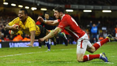 The moment: Kurtley Beale scores THE try against Wales in 2012. That try created the World Cup's Pool of Death.