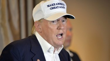 Denies golf claim: Presidential hopeful Donald Trump.
